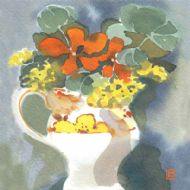 Nasturtiums in Price Jug
