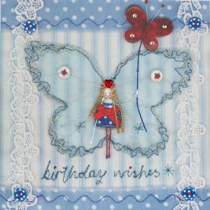 Birthday Wishes Red Butterfly