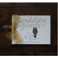 Personalised Bride and Groom Wedding Guest Book