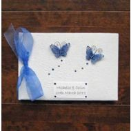 Personalised Blue Butterfly Occasion Book