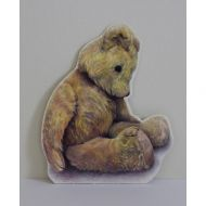 Old Bear Cut Out Card Sitting Down Bear