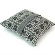 Charcoal Grey Snowflake Cushion