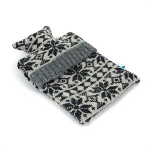 Charcoal Grey Snowflake Mini Hotwater Bottle